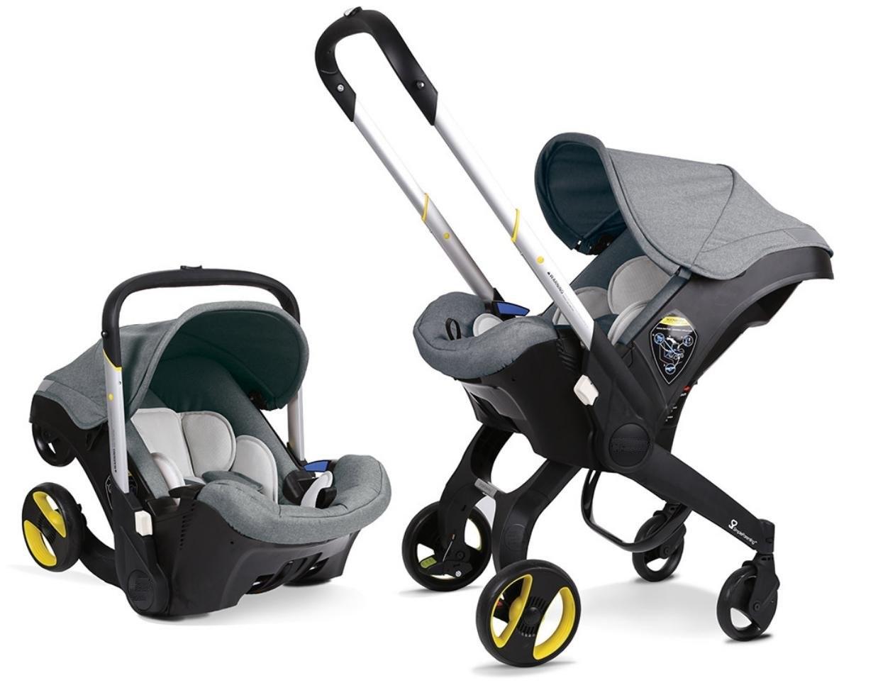 Детское автокресло-коляска Foofoo (Doona) 2 в 1 Цвет серый