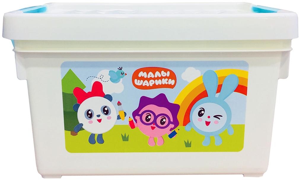 Ящик для хранения игрушек Little Angel Малышарики пластик белый LA1152 5,1л