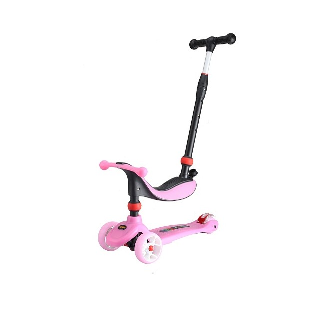 Самокат 3 в 1 Larsen Mini Pink