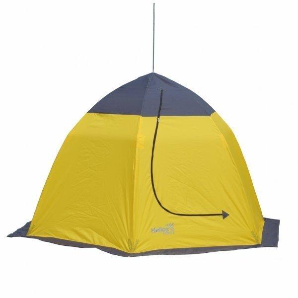 Палатка-автомат Helios Nord трехместная желтая