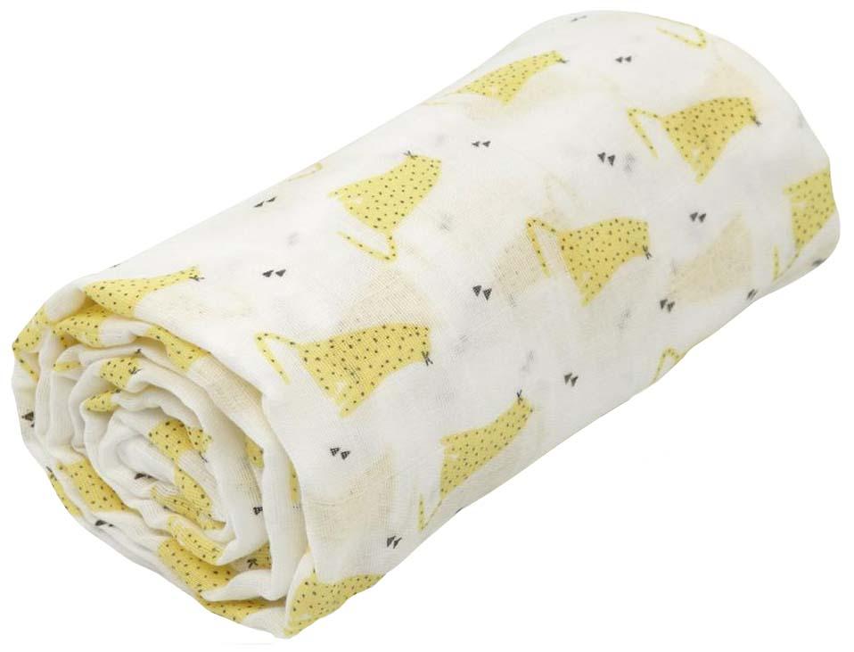 Пеленка для детей Happy Baby муслиновая Yellow