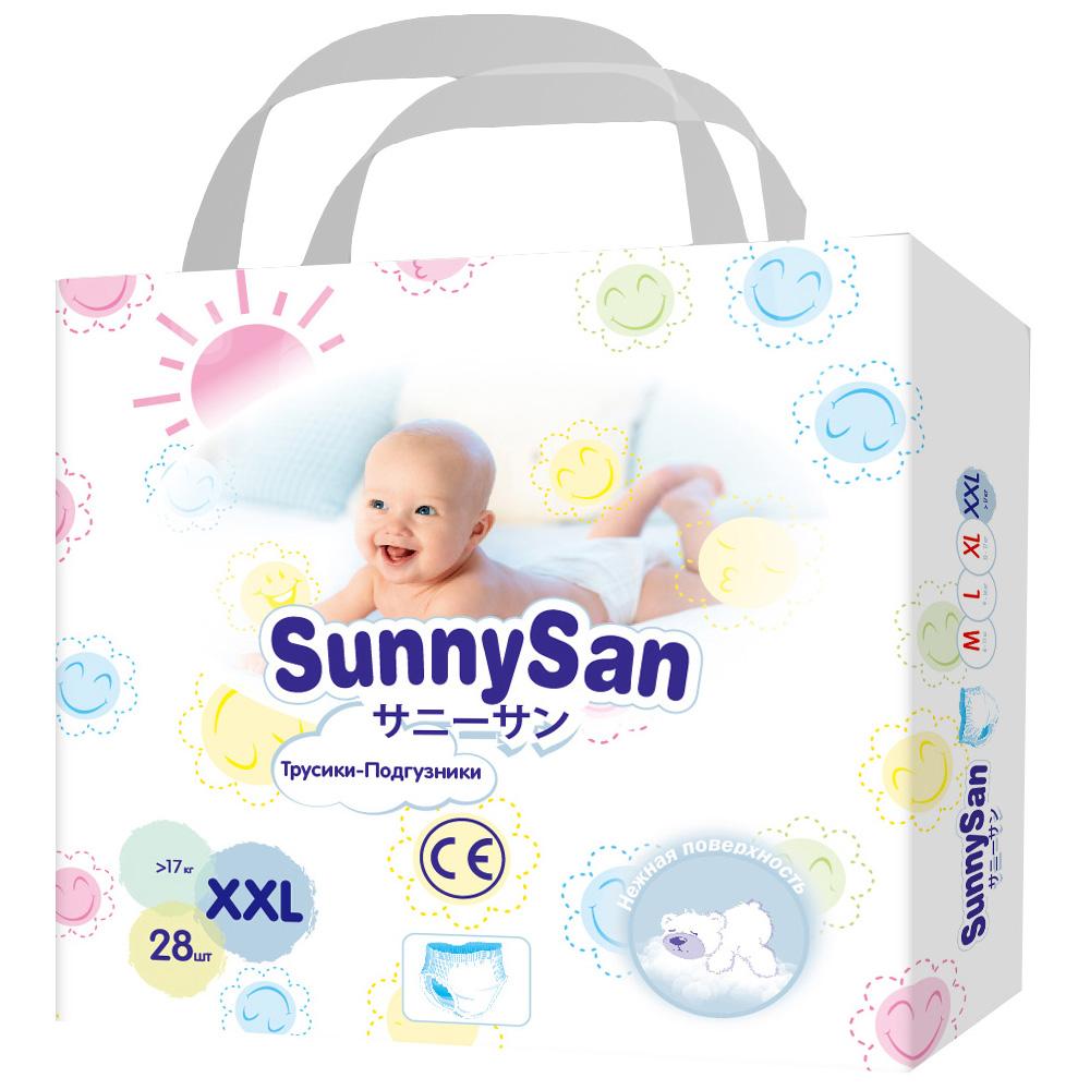 Купить Трусики-подгузники SunnySan XXL с 17 кг 28 шт., Подгузники-трусики