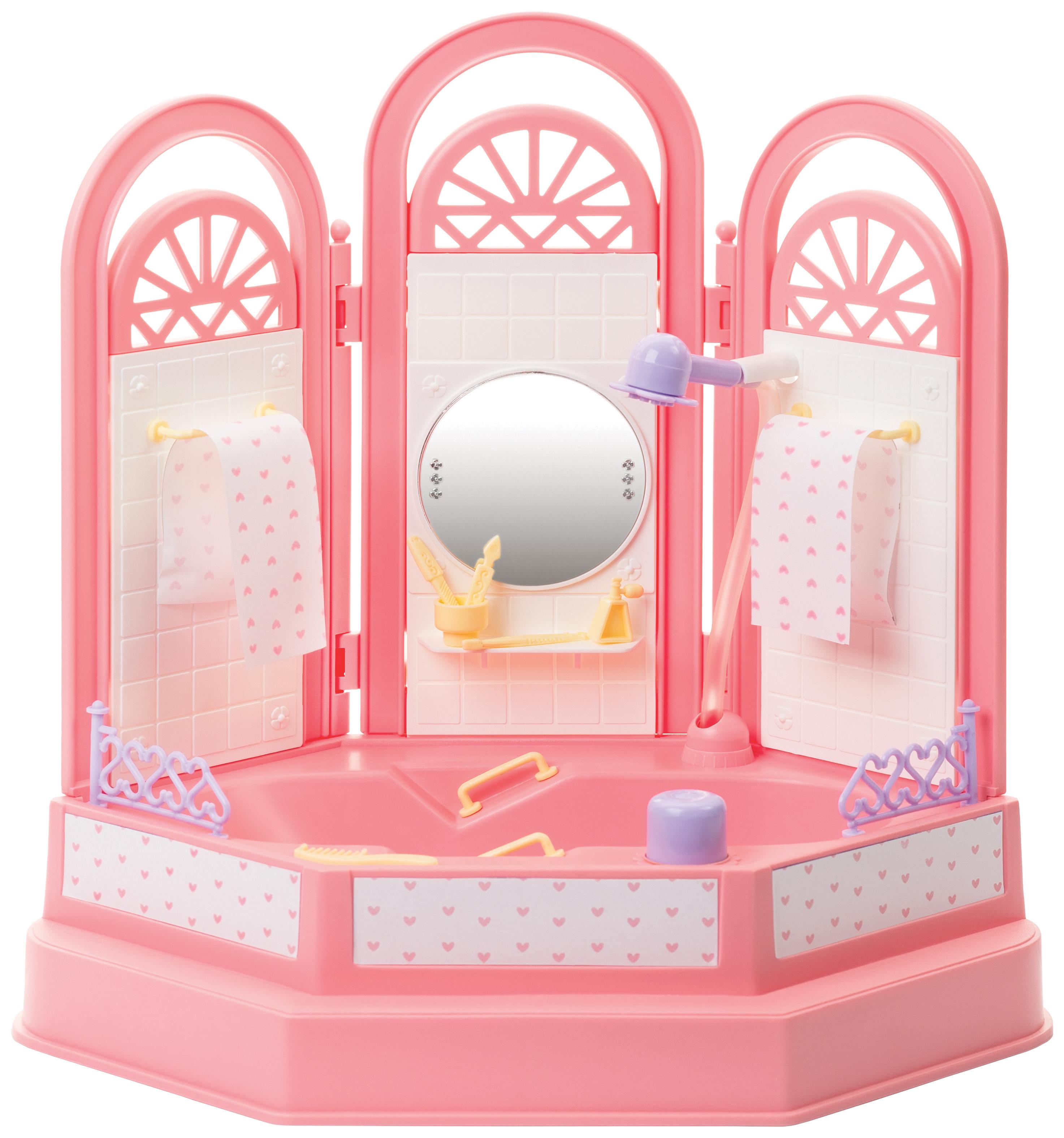Мебель для кукол Огонек Ванная комната Маленькая принцесса