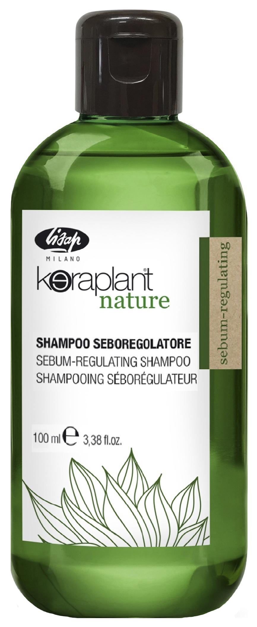 Шампунь себорегулирующий Lisap Milano Keraplant Nature Sebum-Regulating Shampoo 100 мл