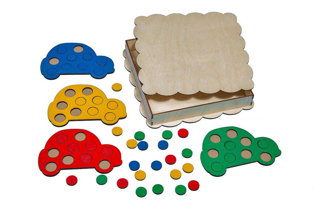 Купить Развивающая игрушка Smile decor Деревянная мозаика Машинки П025, Развивающие игрушки
