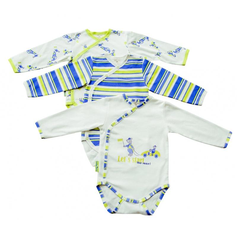 Купить Комплект боди 3 шт Lucky Child Синий р.86, Боди и песочники для малышей