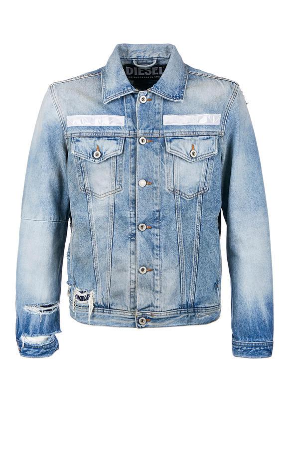 Куртка джинсовая мужская DIESEL синяя 50
