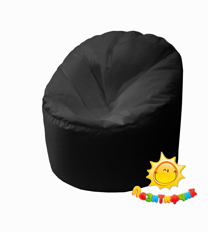 Кресло-мешок Pazitif Пенек Пазитифчик, размер L, оксфорд, черный фото