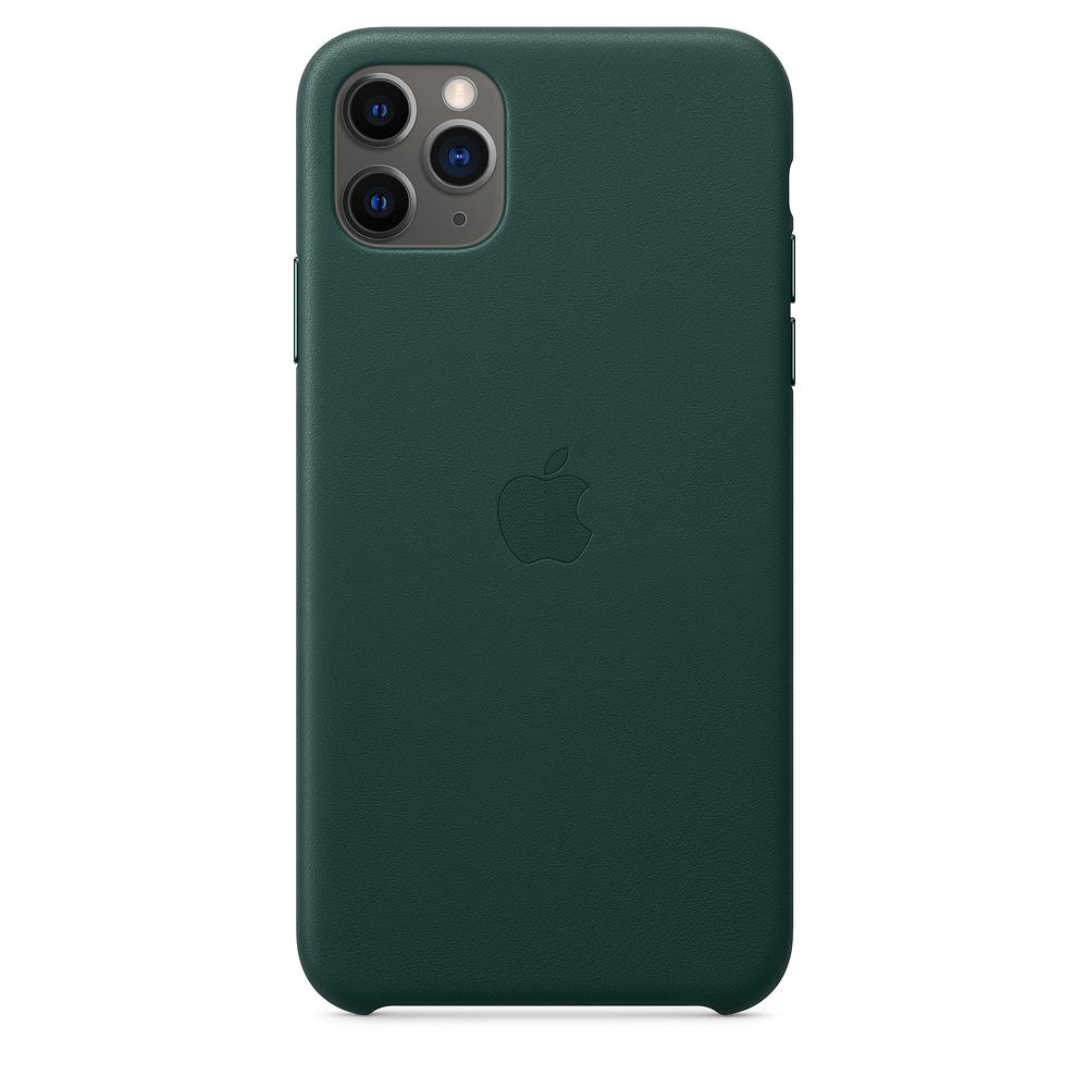 Чехол Apple для iPhone 11 Pro Max Leather Case - Forest Green  фото