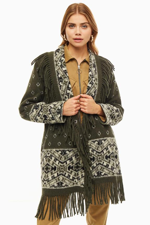 Пальто женское ERMA зеленое