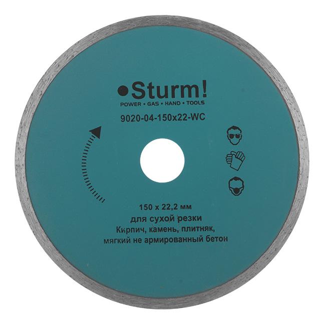 Диск алмазный отрезной по керамике Sturm! 9020-04-150x22-WC фото