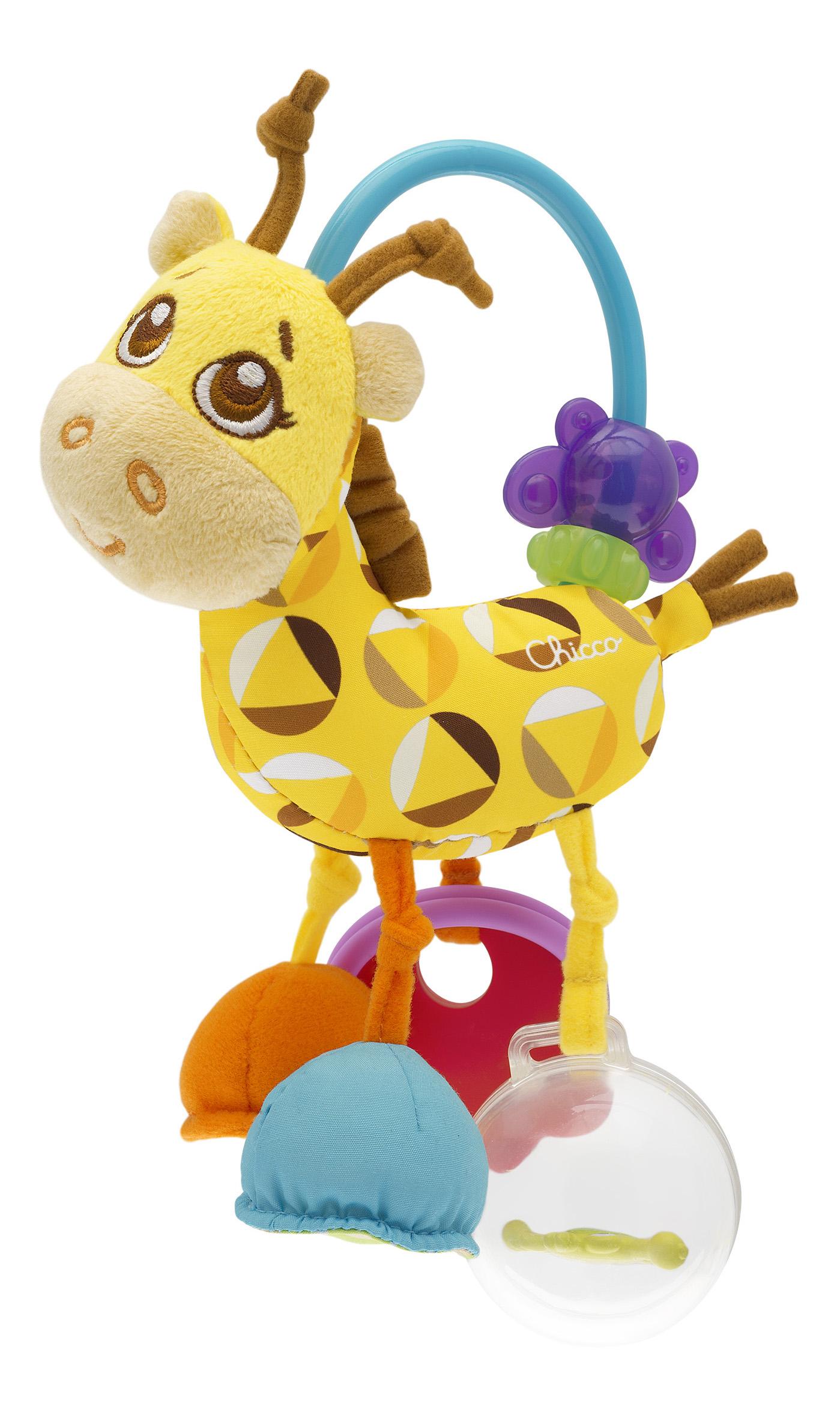 картинка Игрушка-погремушка Chicco мягкая Жираф 654082 от магазина Bebikam.ru