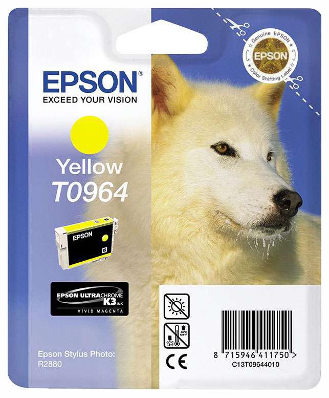 Картридж для струйного принтера Epson C13T09644010, желтый, оригинал, t0964