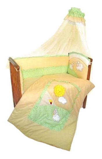 Купить Комплект в кроватку Золотой гусь Веселые овечки 7 предметов бежевый, Золотой Гусь, Комплекты детского постельного белья