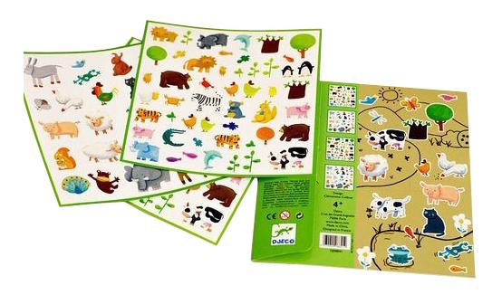 Купить Наклейка декоративная для детской комнаты Djeco Животные, Аксессуары для детской комнаты