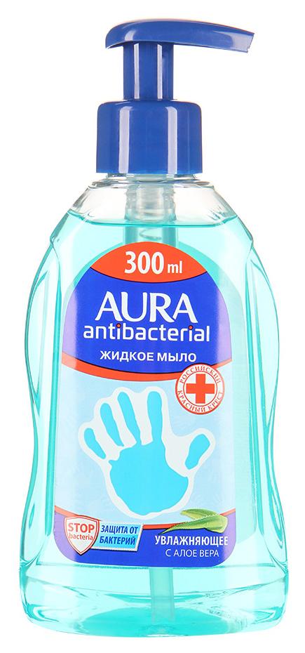 Жидкое мыло AURA Алоэ с антибактериальным эффектом 300 мл фото