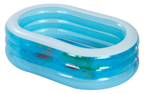 Купить Бассейн детский Intex Oval Whale Fun Pool INT57482NP 163x46 см, Детские бассейны