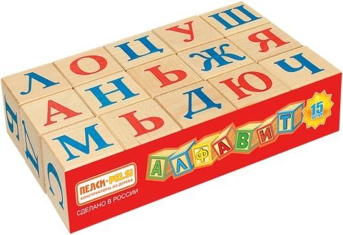 Купить Деревянные кубики PROFFI Азбука 15 шт. (669), Развивающие кубики