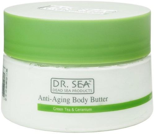 Масло для тела против старения DR SEA Зеленый чай и герань, 250 мл