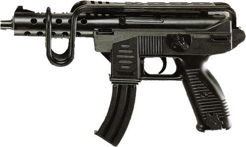 Купить Автомат EDISON Uzimatic, 50, 5 см, упаковка-вешалка (0266 36), Edison Giocattoli, Стрелковое игрушечное оружие