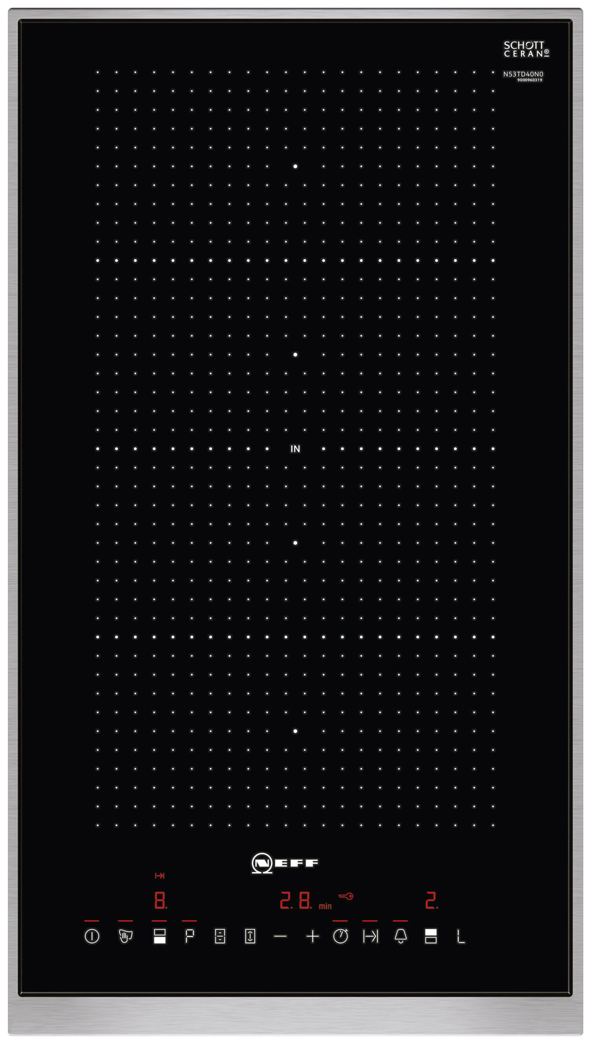 Встраиваемая варочная панель индукционная Neff N53TD40N0 Black