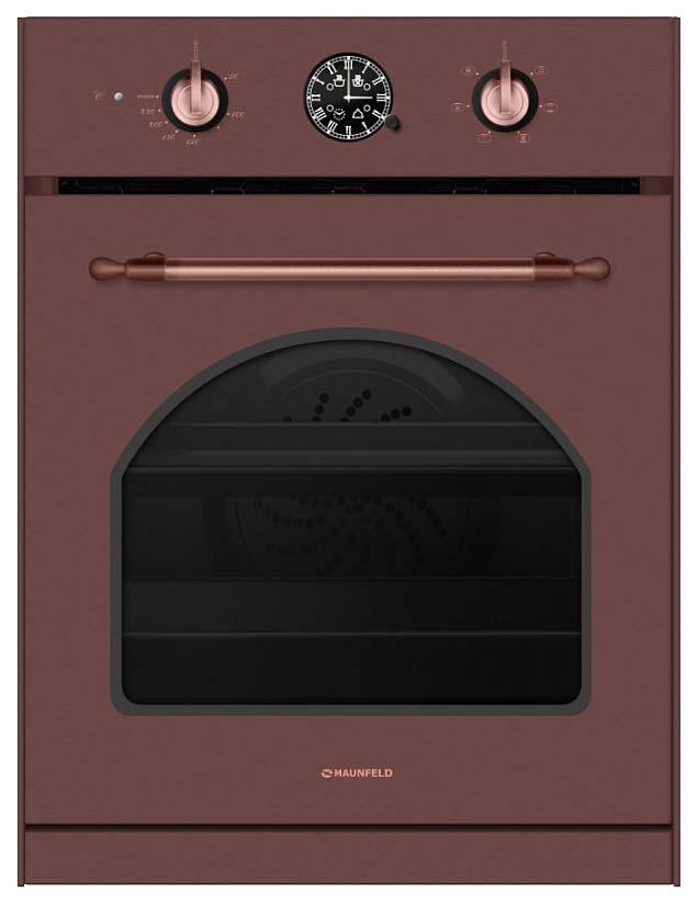 Встраиваемый электрический духовой шкаф MAUNFELD MEOXN.376.RCC.TA Brown