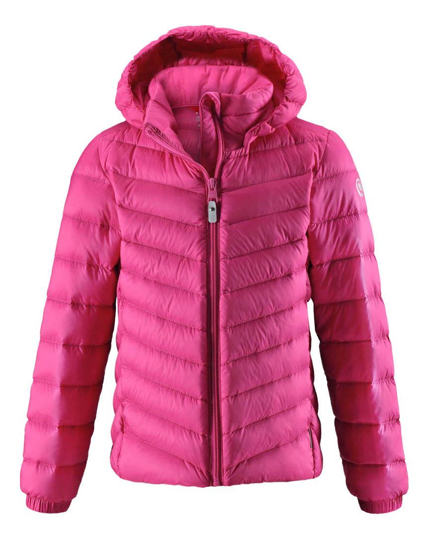 Куртка Reima пуховая для девочки Fern розовая