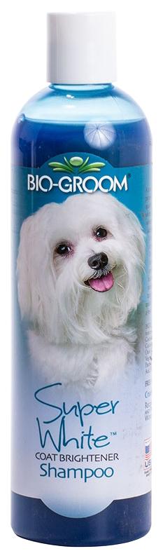 Шампунь для кошек и собак Bio-Groom Super White осветляющий для светлой шерсти, 355 мл