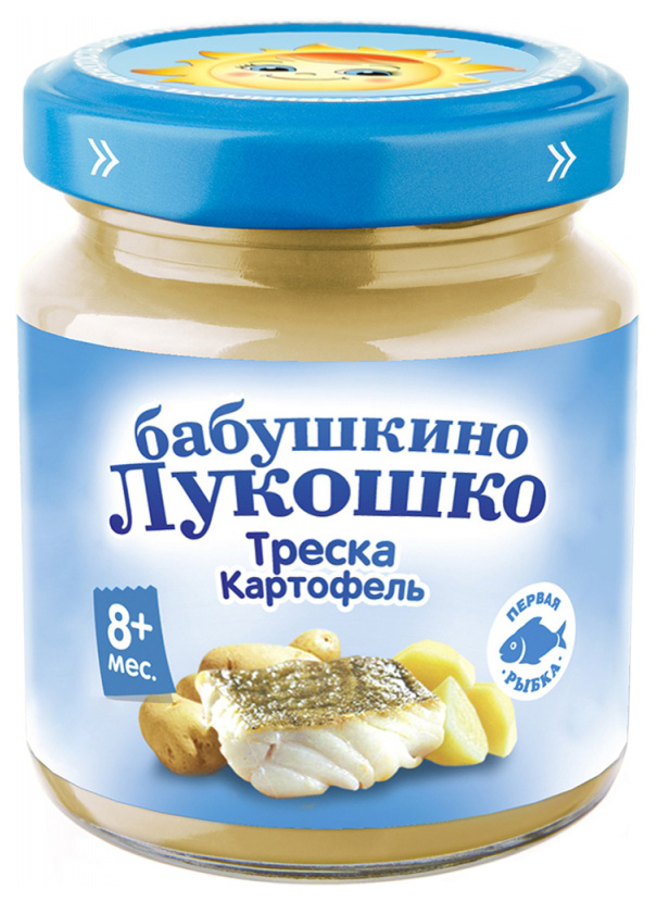 Пюре Бабушкино Лукошко Треска с картофелем
