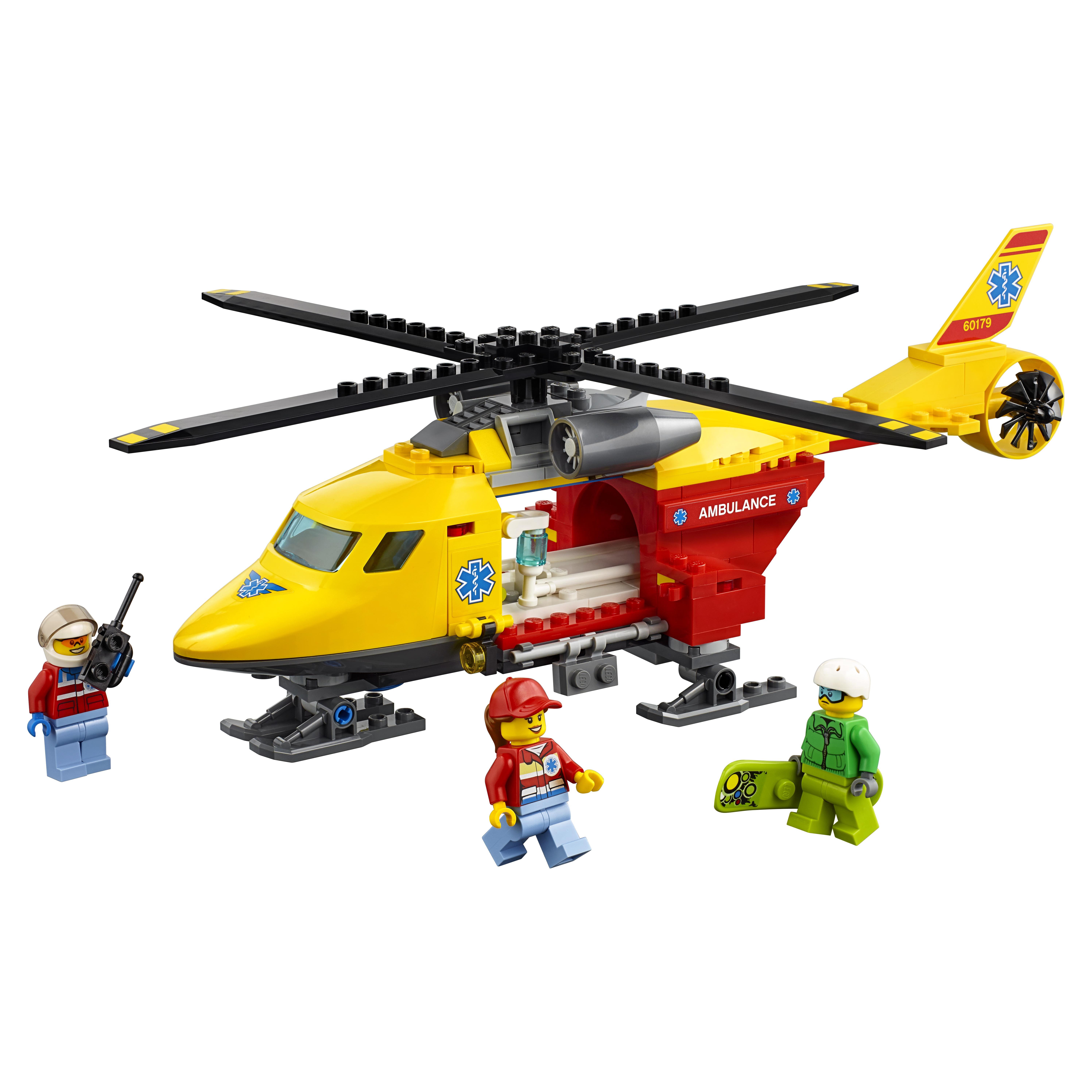 Конструктор LEGO City Great Vehicles Вертолёт скорой помощи (60179) фото