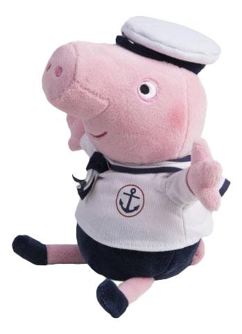 Купить Джордж-морячок, Мягкая игрушка Intertoy Свинка Пеппа Джордж Морячок Звук 25 см 31156, Мягкие игрушки персонажи