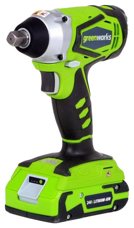 Аккумуляторный ударный гайковёрт Greenworks G 24V (G24IW)