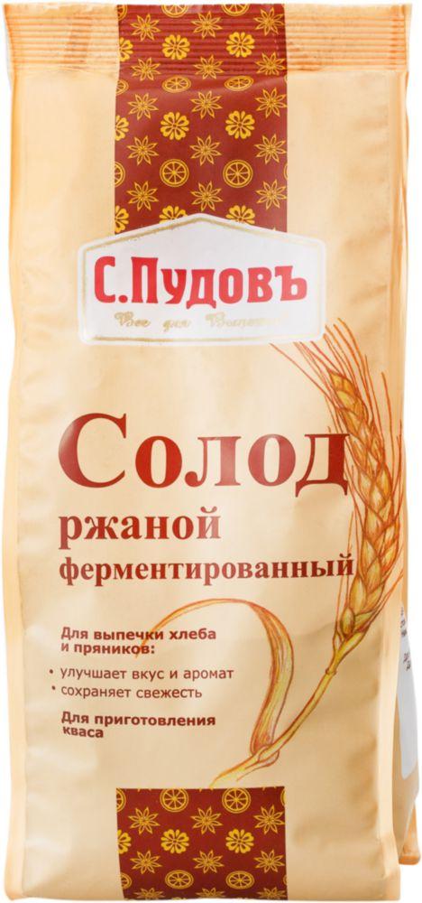 Солод ржаной С.Пудовъ ферментированный 300 г фото