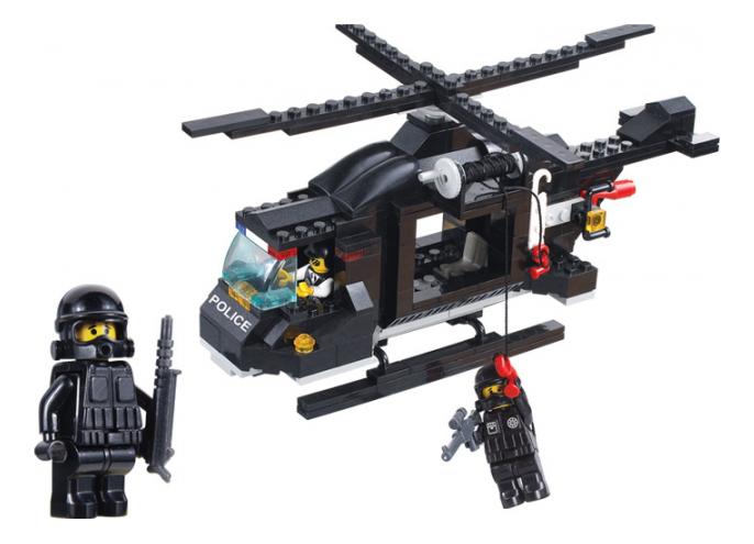 Конструктор Полиция Вертолет 219 деталей Sluban Г71977