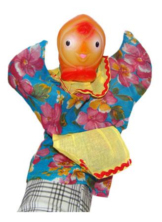 картинка Кукла-перчатка Курочка Русский стиль 11015 от магазина Bebikam.ru