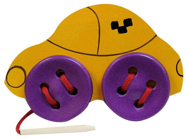 Развивающая игрушка RNToys Шнуровка Машинка
