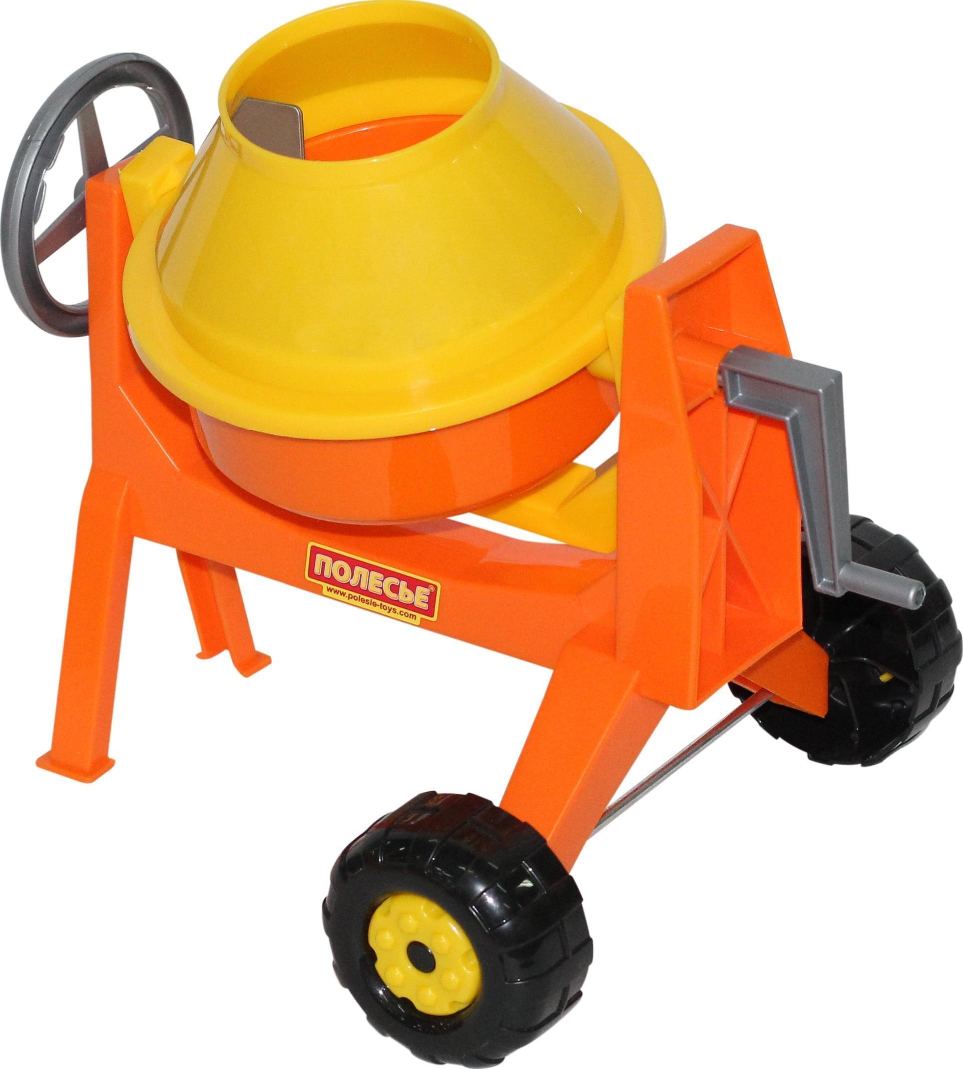 Игрушка для песочницы Бетономешалка мини Полесье, Строительная техника  - купить со скидкой