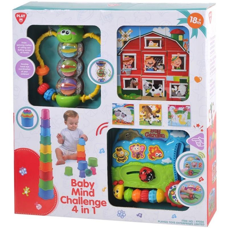картинка Набор развивающих игрушек (формочки, бабочка, кубики, центр) от магазина Bebikam.ru