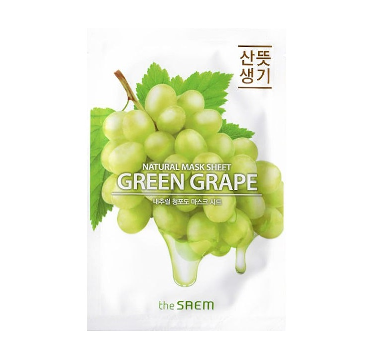 Купить Маска тканевая N с экстрактом винограда Natural Green Grape Mask Sheet 21мл, THE SAEM