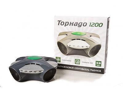 Световой, звуковой и ультразвуковой отпугиватель грызунов, крыс, мышей ТОРНАДО 1200
