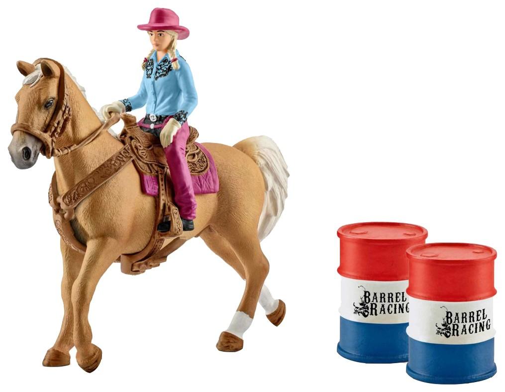 """Женщина-ковбой с лошадью и аксессуарами """"Schleich"""""""