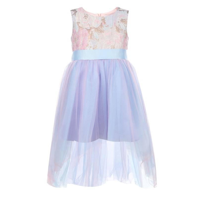 Купить 1581, Платье Выше радуги UNONA D'ART, цв. сиреневый, 128 р-р, Платья для девочек