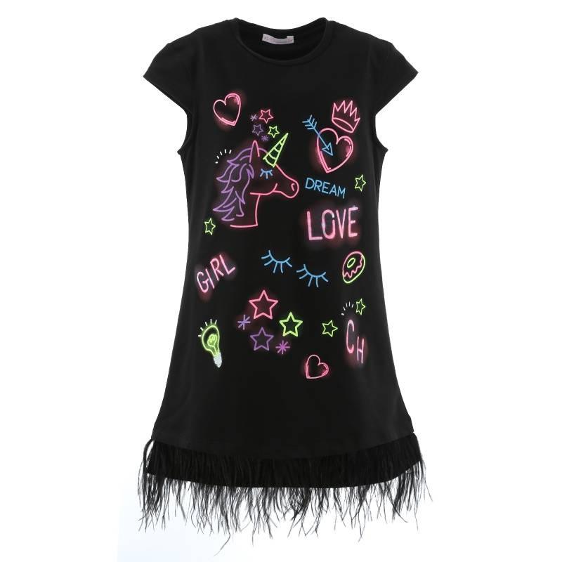 Купить Платье Choupette, цв. черный, 140 р-р, Детские платья и сарафаны