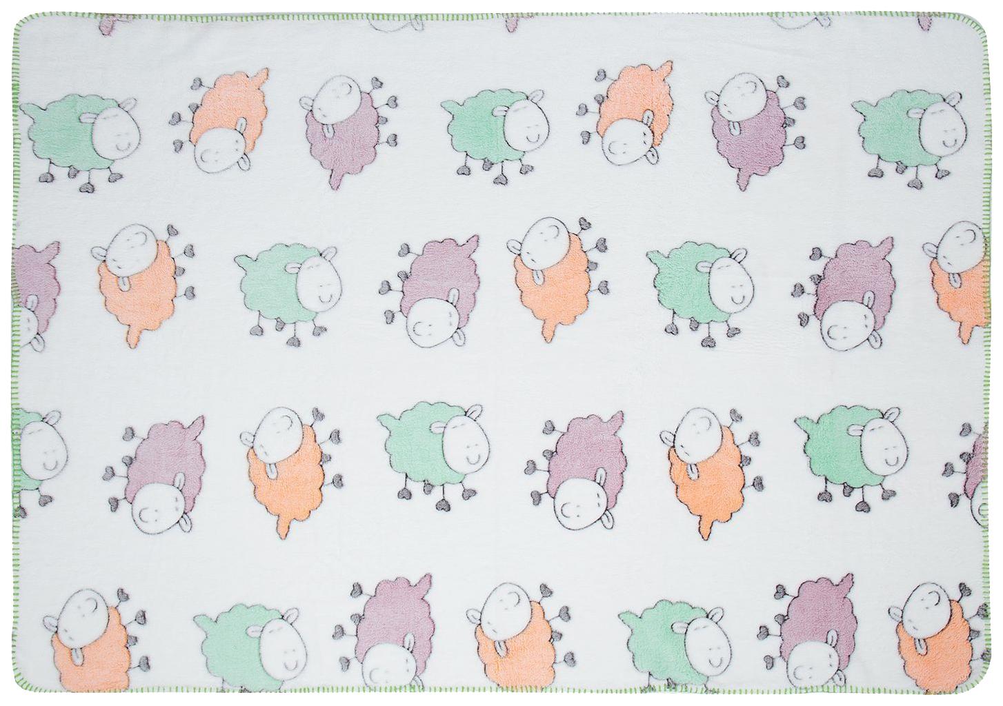 Плед-покрывало Baby Nice Разноцветные овечки 75x100