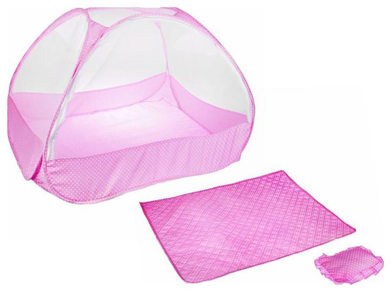 Манеж-палатка для ребёнка розовая Крошка Я