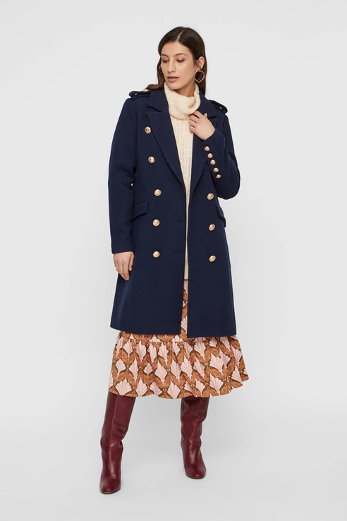 Пальто женское Y.A.S 26015384 синее S.