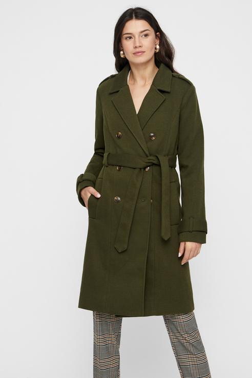 Пальто женское Y.A.S 26015354 зеленое M.