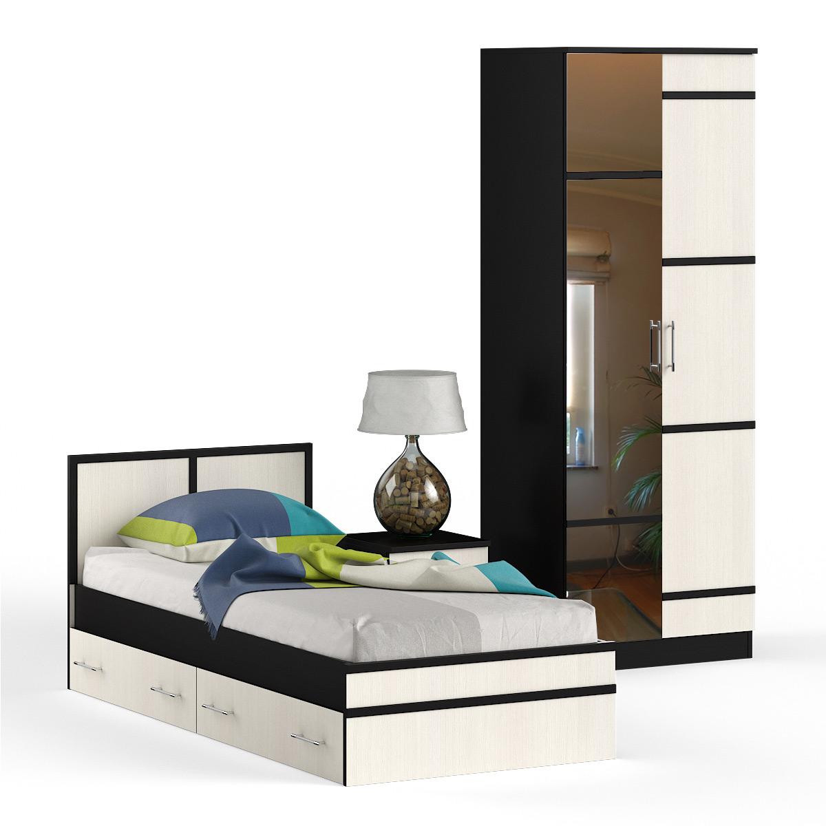 Спальня № 2 Кровать 0900 + Тумба