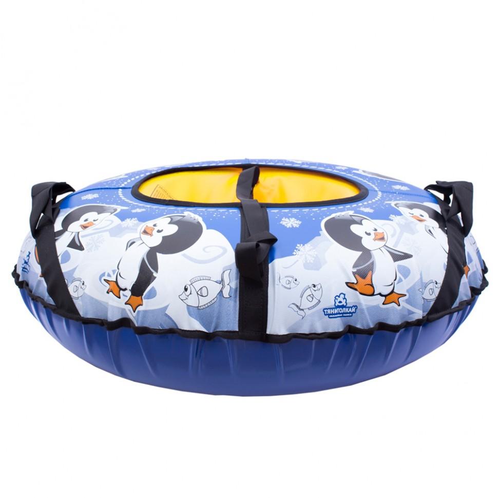 Санки надувные Тяни-толкай Пингвин тент 83 см фото