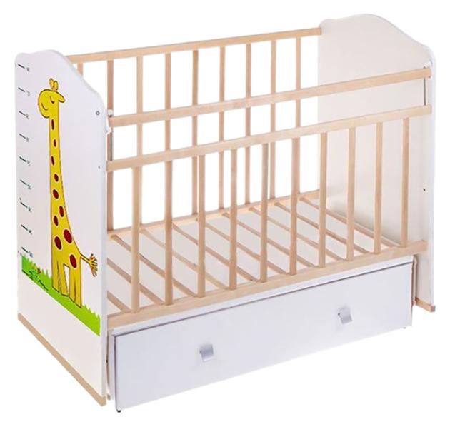Кровать детская ВДК Морозко. Жираф бежевый слоновая кость